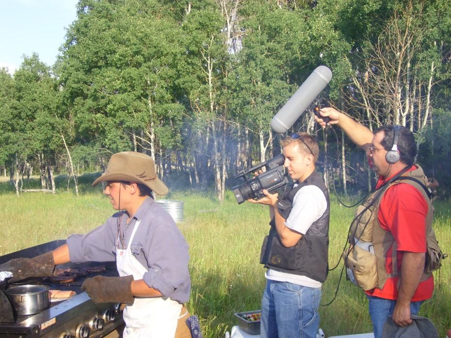 Filming at a Colorado Dude Ranch